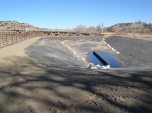New HDPE-lined impoundment